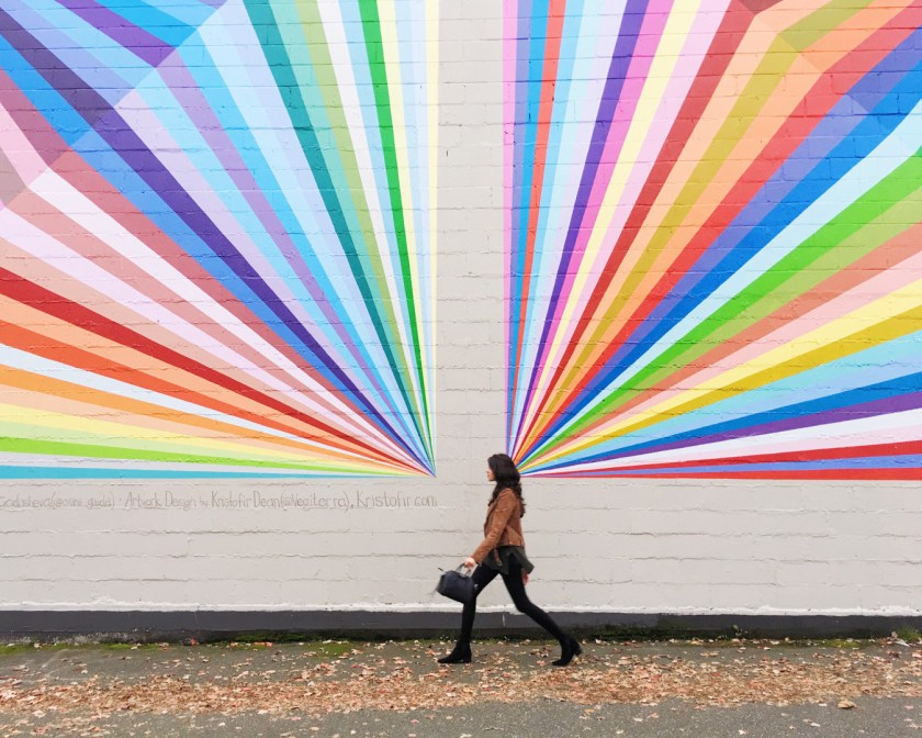 rainbow wall in vancouver