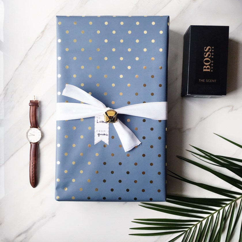 gift guide for him featuring Daniel Wellington and Hugo Boss