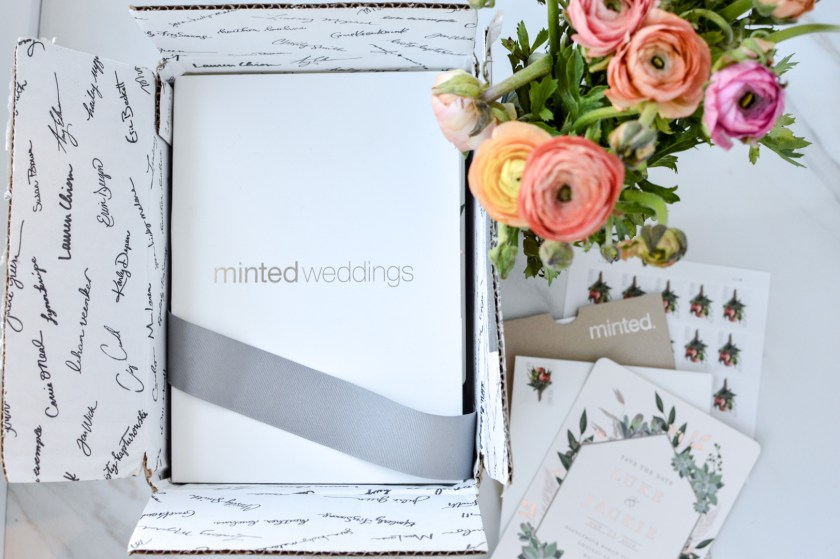 Jackie roque and Luke save the date with Minted.