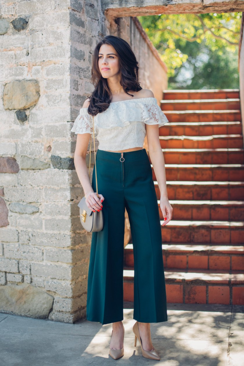 Jackie Roque styling a Topshop Culotte in Malibu.