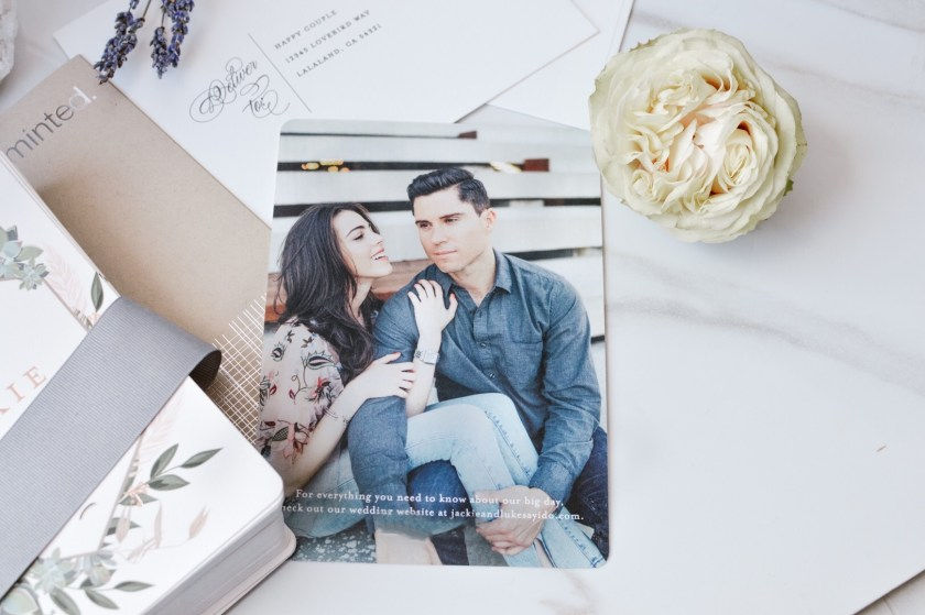 Jackie and Luke's Save the date from Minted
