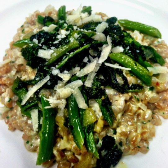 Farro Risotto with Broccoli Rabe | Dash of Savory