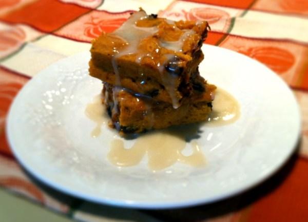 Pumpkin Chocolate Chip Cake with Maple Glaze