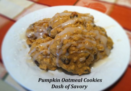 Pumpkin Oatmeal Cookies | Dash of Savory