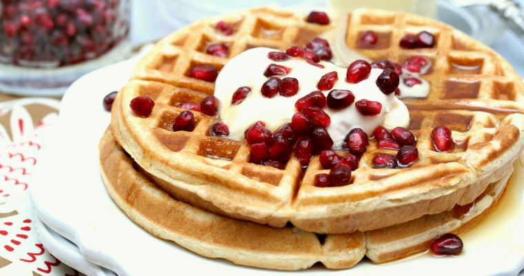 Bourbon Pomegranate Waffles