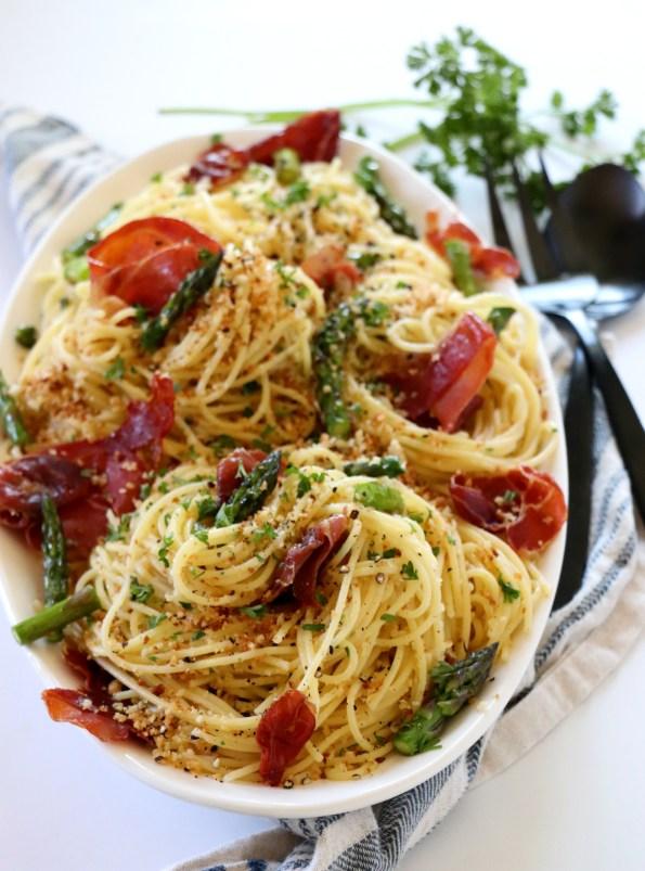 Crisp Prosciutto Asparagus Pasta