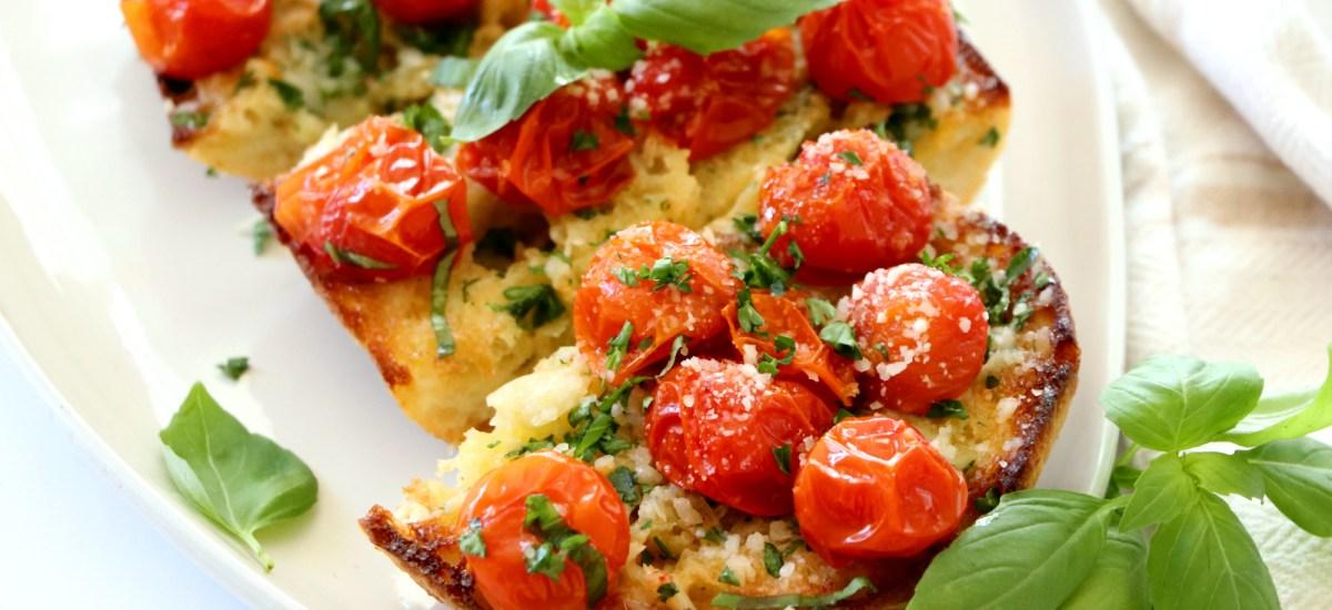 Roasted Cherry Tomato Ciabatta Bread