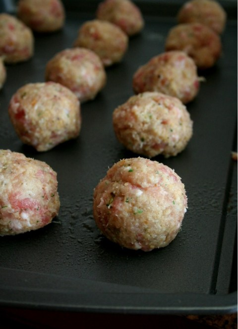 Gorgonzola Stuffed Meatball Sandwiches