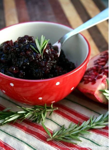 Pomegranate & Rosemary Cranberry Sauce
