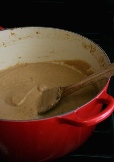 Roasted Cauliflower French Onion Soup