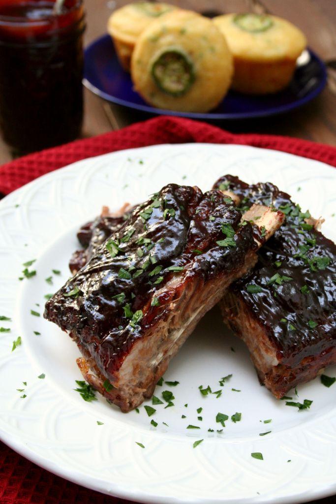 Chipotle Blackberry BBQ Glazed Spare Ribs