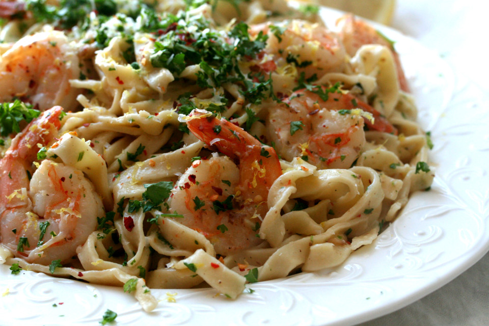 Shrimp Scampi Fettucine