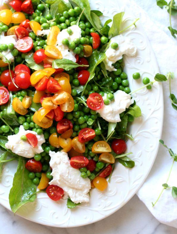 Spring Pea and Burrata Salad
