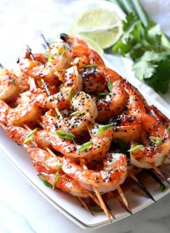 Grilled Orange Glazed Shrimp