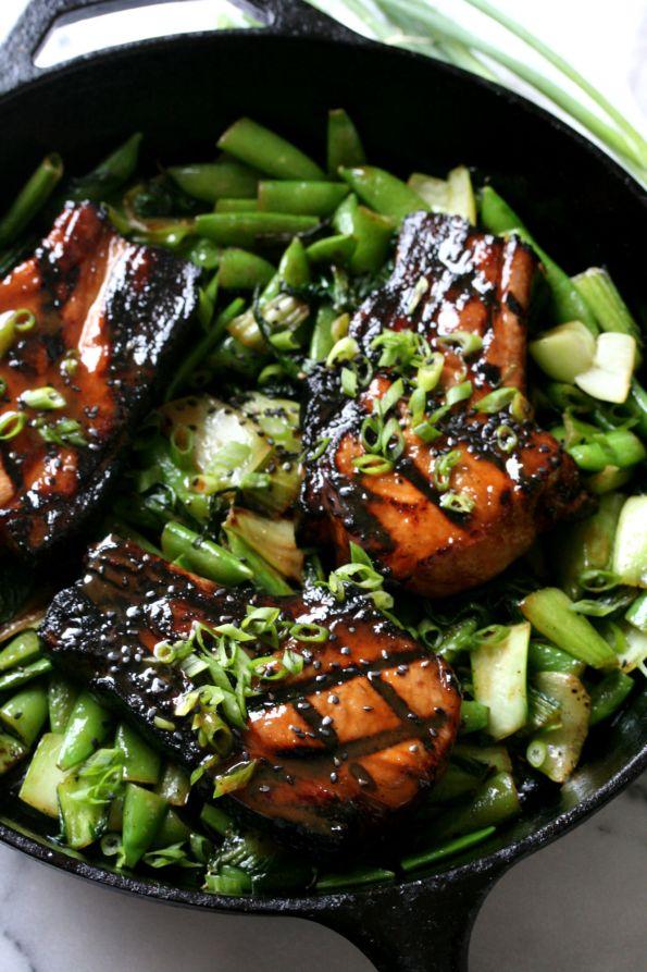 Sous Vide Miso Soy Pork Chops