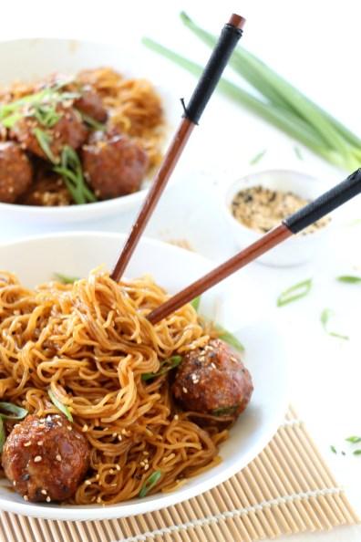 Teriyaki Meatball Noodles