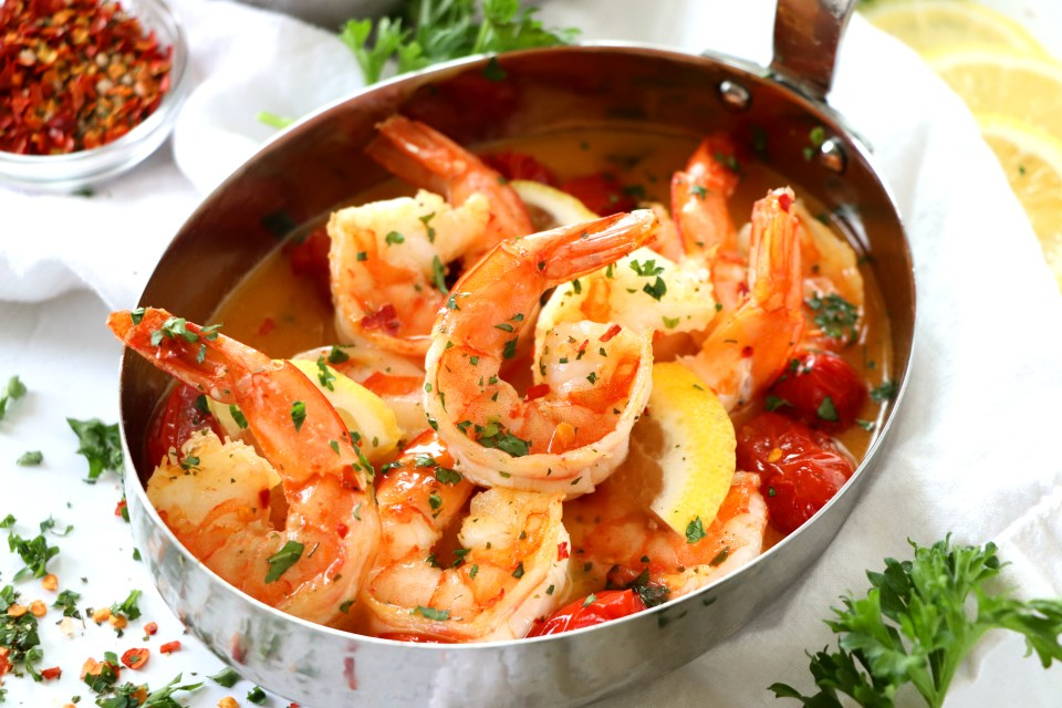 Drunken Shrimp Scampi