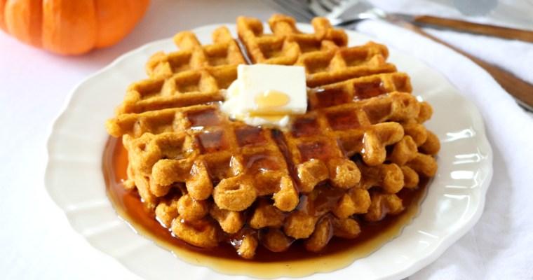 Pumpkin Spice Waffles