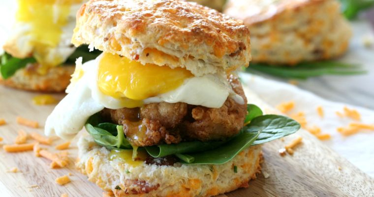 Fried Chicken Breakfast Sandwich