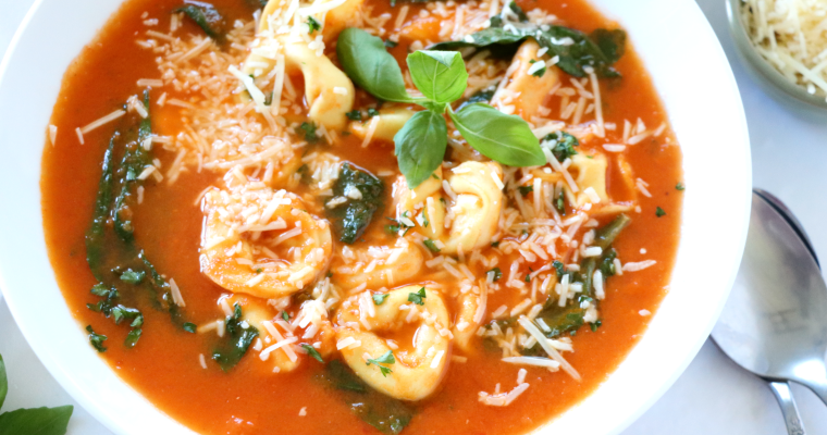 Roasted Tomato Tortellini Soup