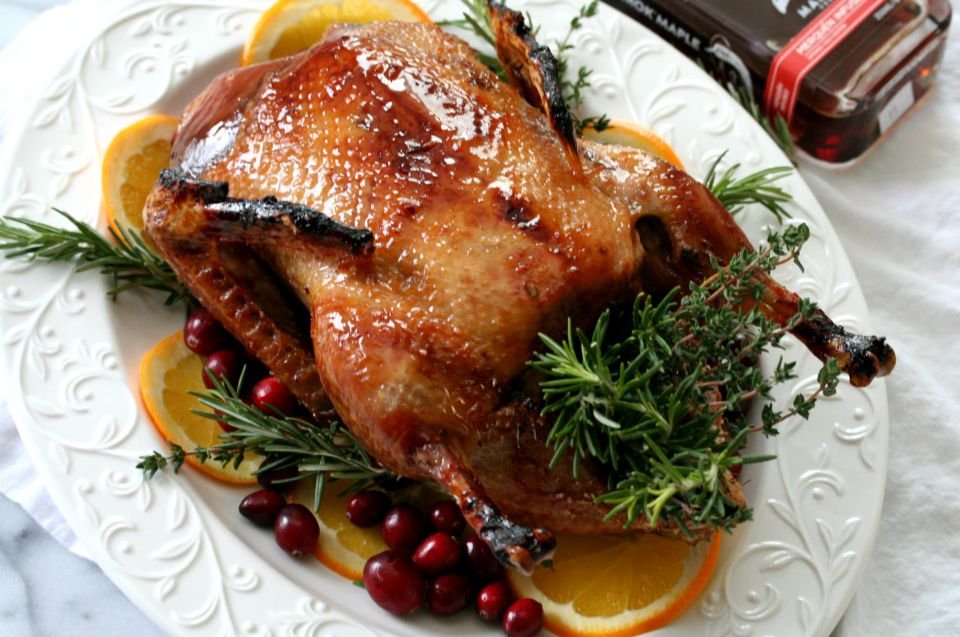 Maple Glazed Roast Duck