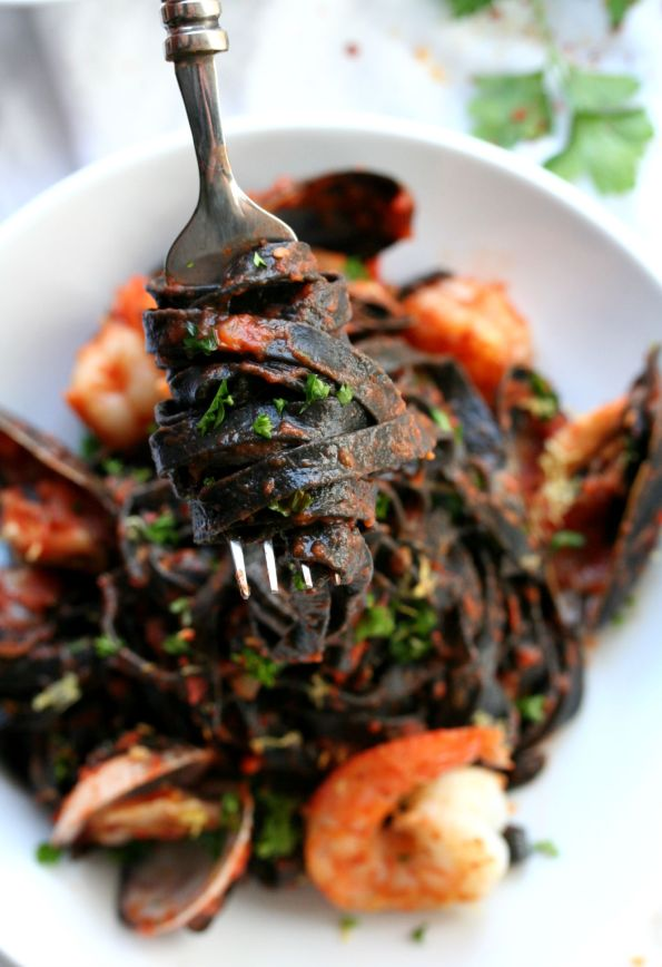 Arrabiata Squid Ink Pasta