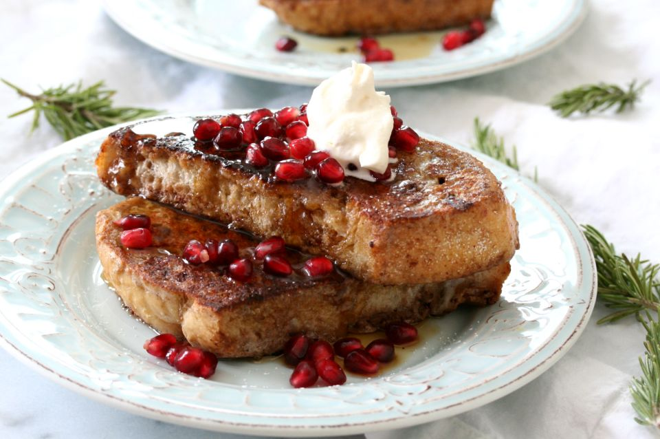 Pomegranate French Toast