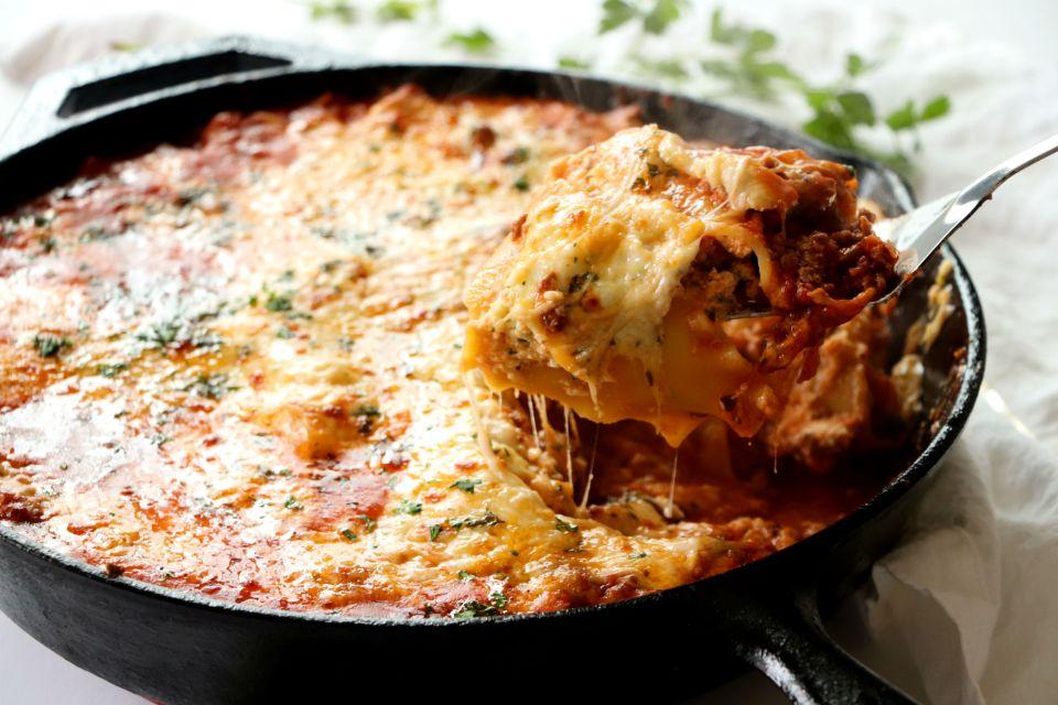 Cast Iron Skillet Lasagna
