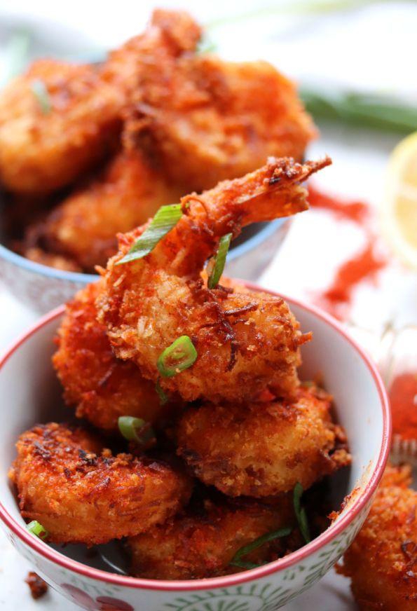 Spicy Sriracha Coconut Shrimp