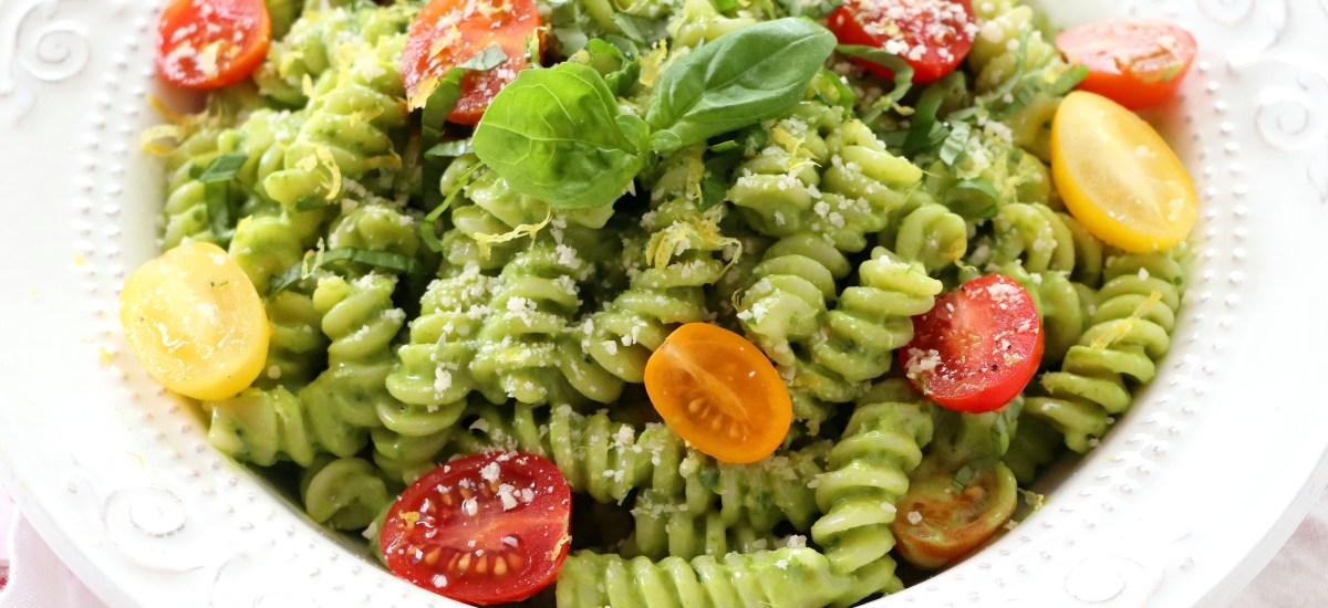 Healthy Spinach Pesto Pasta