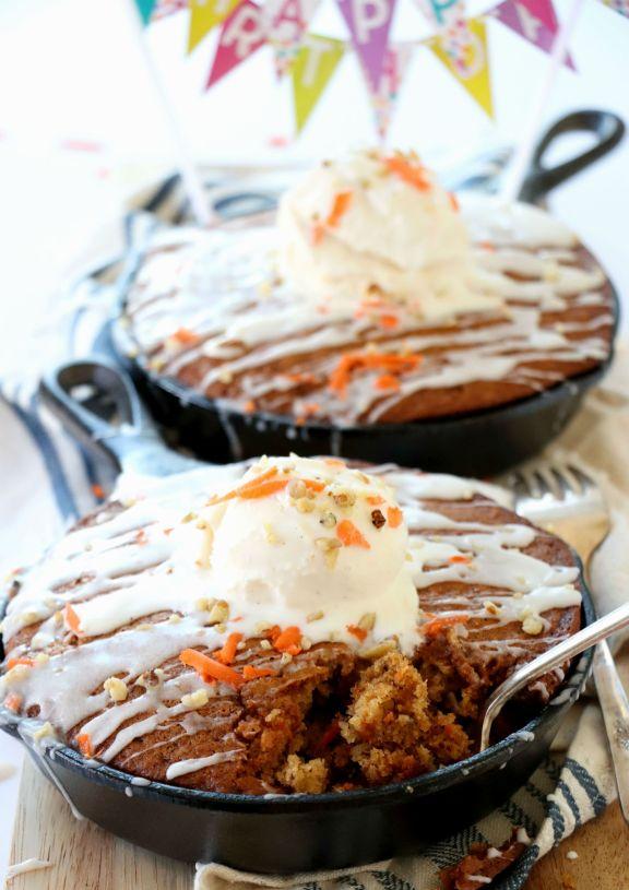 Cast Iron Skillet Carrot Cake