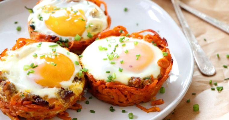 Sweet Potato Breakfast Nests