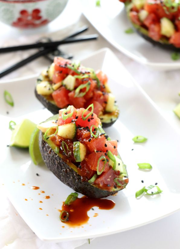 Ahi Tuna Poke Stuffed Avocados