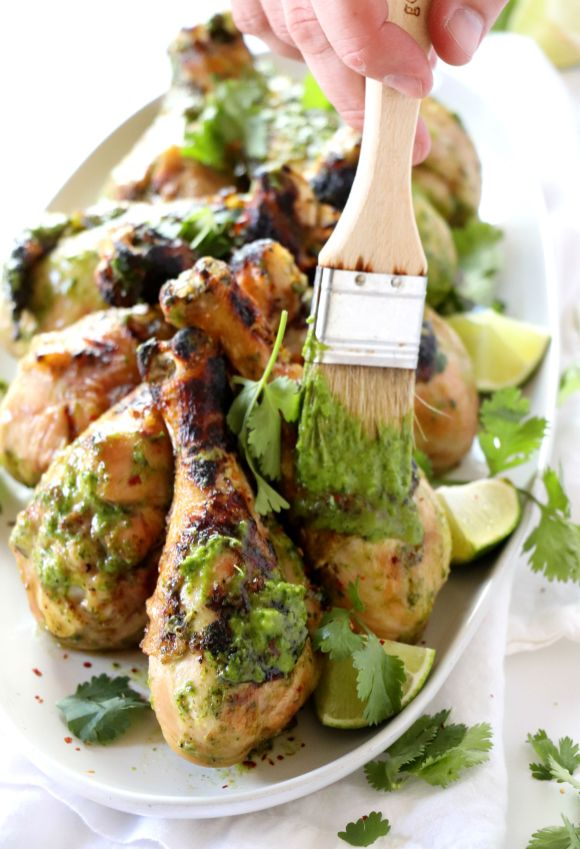 Grilled Chimichurri Chicken Drums