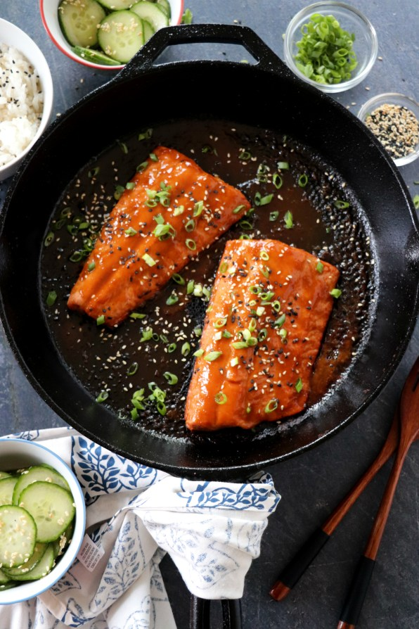 Miso Soy Glazed Salmon