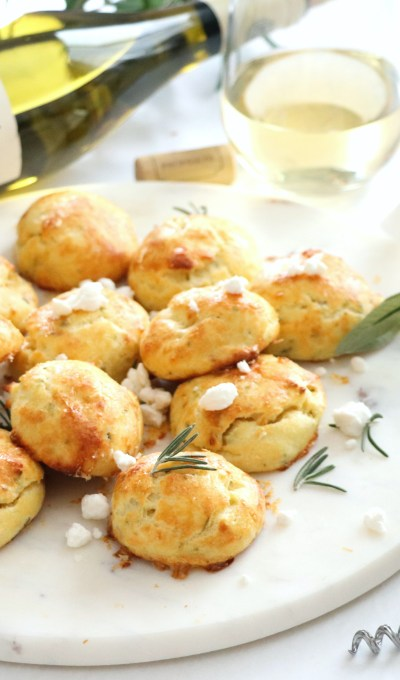 Rosemary Goat Cheese Gougères