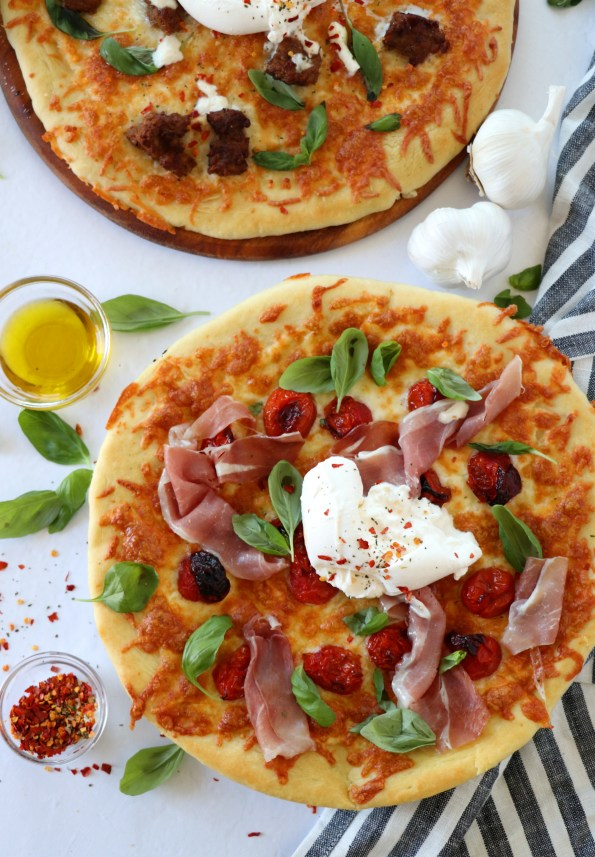 Burrata Pizza 2 Ways