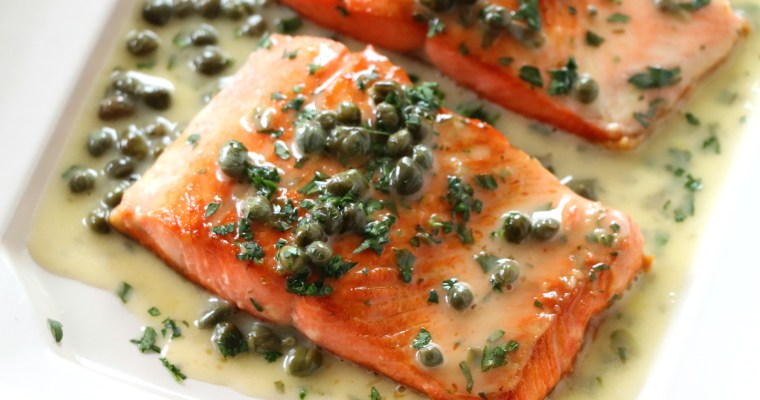 Pan Seared Salmon Piccata