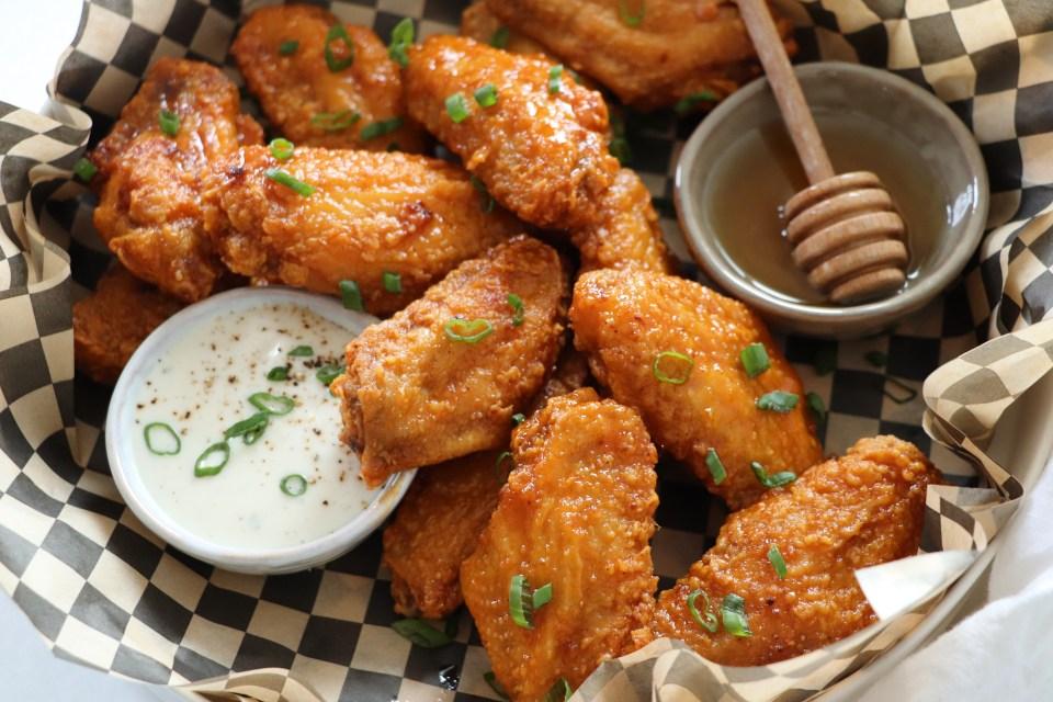 Fried Hot Honey Chicken Wings