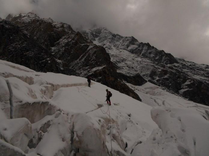 Rescue Party on Glacier