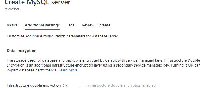 Azure MySQL