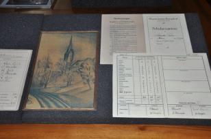 Ausstellung von Annelies Hüssy über Franz Schnyders Jugend in Burgdorf.