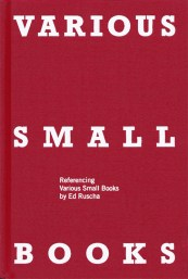 Various Small Books (MIT Press, 2013)