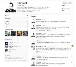 Der Ruhrpoet bei Twitter.