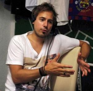 David Nienhaus beim Sportradio360 im Studio in München.
