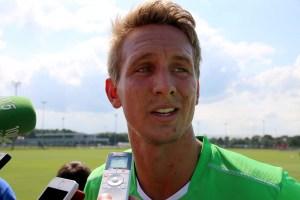Luuk de Jong erschien bei Borussia Mönchengladbach zum Trainingsauftakt. Foto: David Nienhaus