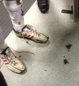Die Schuhe von Weltmeister Christoph Kramer -er kam gerade von der Weide