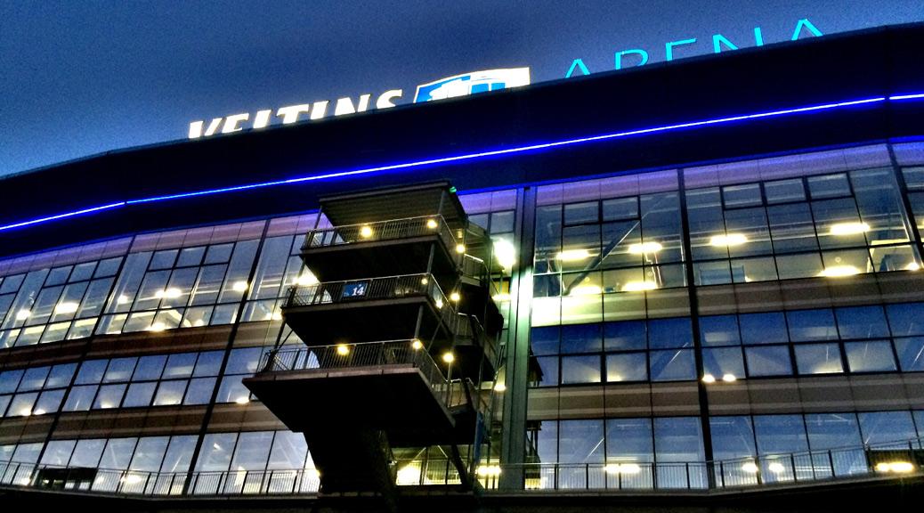 Die Arena auf Schalke vor der Partie zwischen S04 und Gladbach. Foto: David Nienhaus