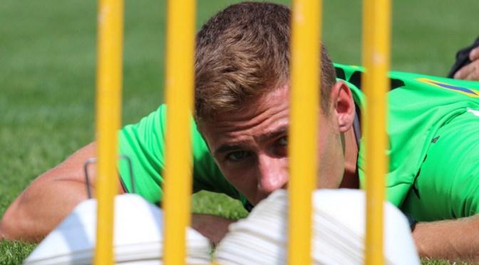 Thorgan Hazard von Borussia Mönchengladbach lässt sich am Tegernsee behandeln. Foto: David Nienhaus