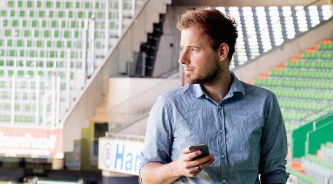 David Nienhaus Social Media und Sportjournalismus. Foto: Christian Werner